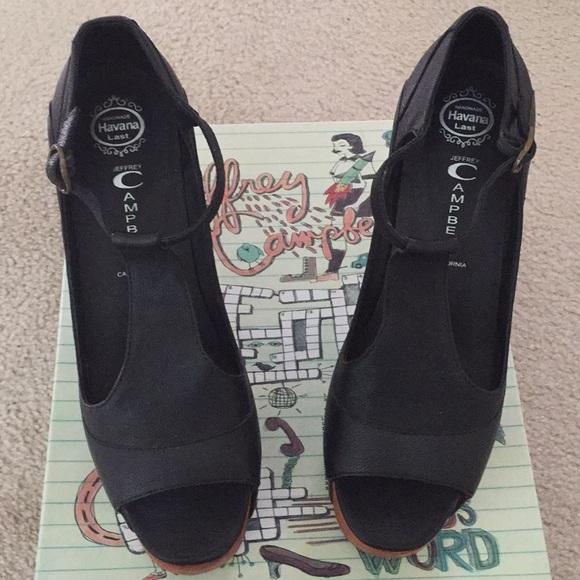 45588fc8cd8 Jeffrey Campbell Foxy Wood Platform Heel Sandals